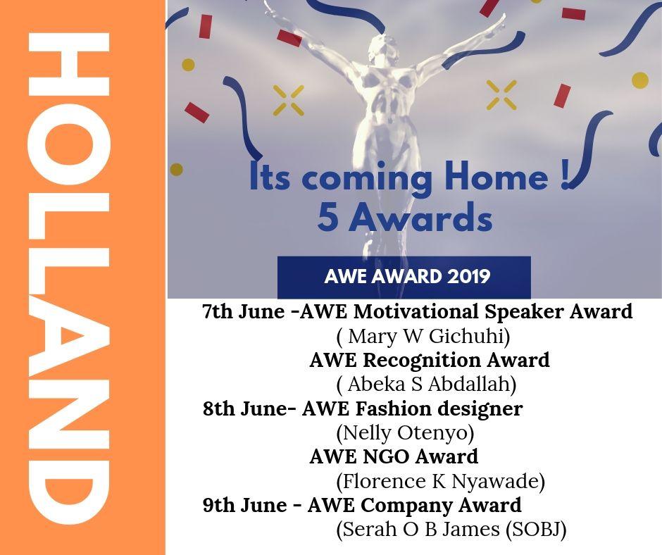 AWE Awards tour