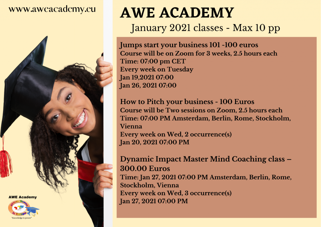 January classes only